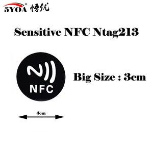 Image 2 - 6 шт./лот NFC этикетки, наклейки NFC 213, этикетка, rfid метка, карта, клейкие брелки, llaveros, llavero Token Patrol