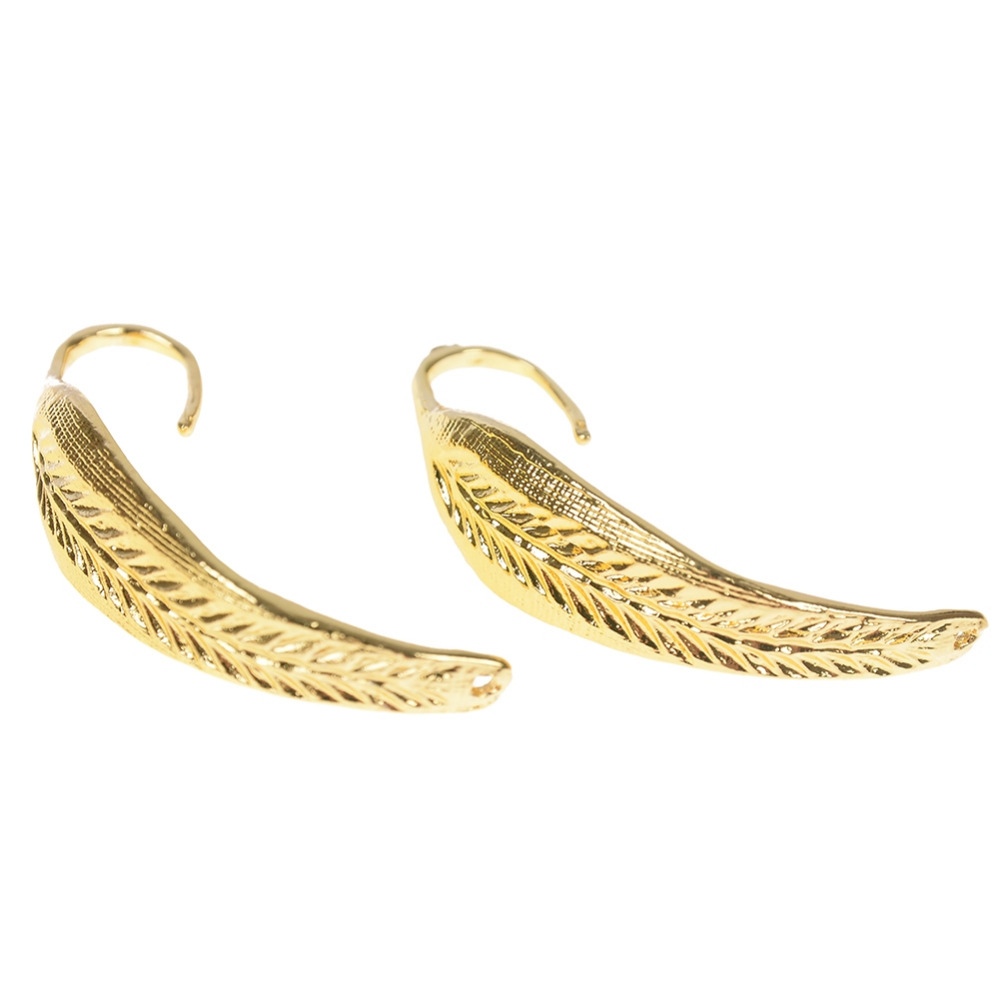1 Pair Hot Elegant Women Fashion Gold Leaves Stud Earrings Wedding Jewelry Gift