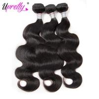 Upretty Włosów Brazylijski Ciało Fala Włosów 3 Wiązki 100% Ludzkie Przedłużanie włosów Naturalny Kolor Włosów Splot Wątek Tanie Pakiety dla sprzedaż