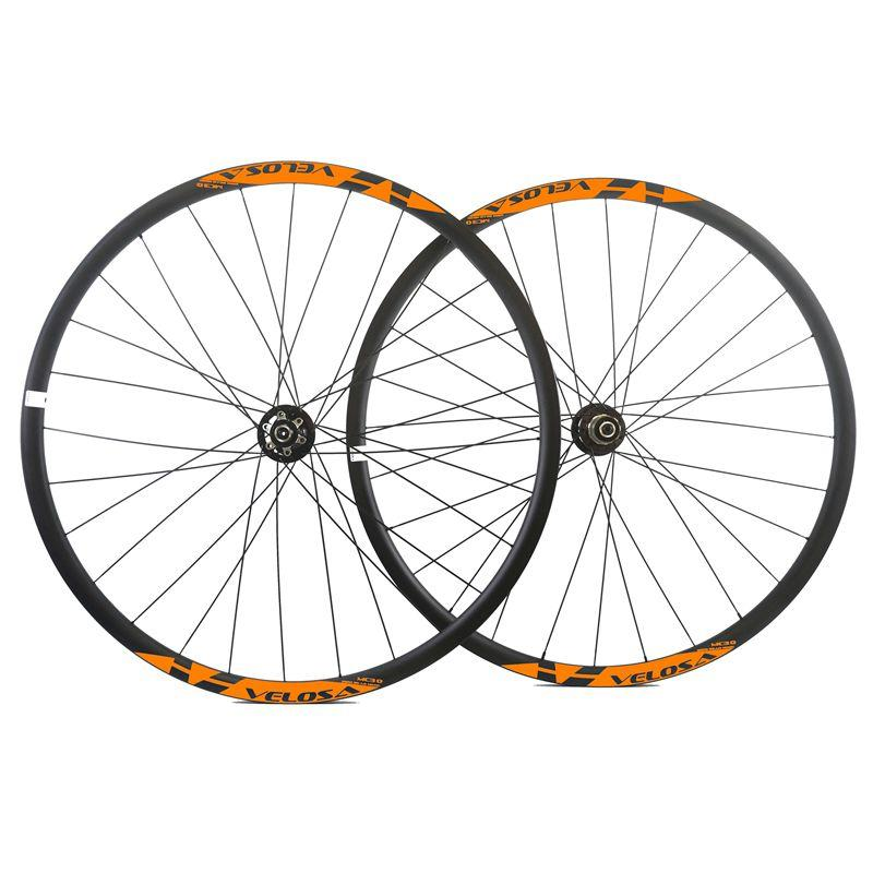 29ER Asymmetric 27mm Wide 23 depth MTB Tubeless ready Carbon Wheels Mountain bicycle XC carbon wheelset with Novatec 771/772 hub light xc 27 5er mtb carbon wheels 650b mountain bike carbon wheelset tubeless ready 26er bicyclewheels 29er cycling wheels