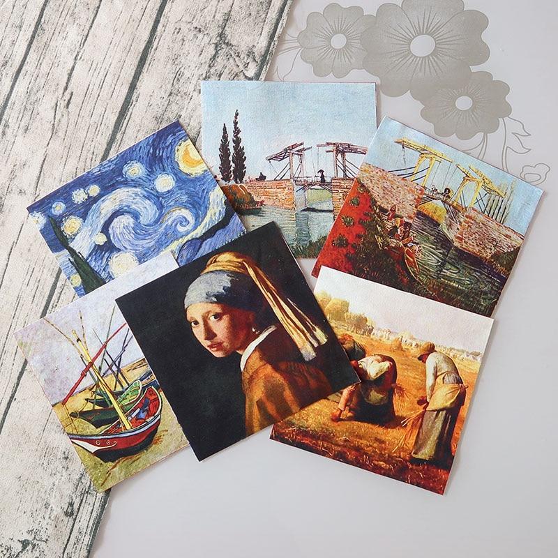 1 шт. картина маслом Ван Гога 18 см x 18 см, хлопковая ткань, Лоскутные ткани, шитье, сделай сам, лоскутное шитье, ручная вышивка стеганая сумка