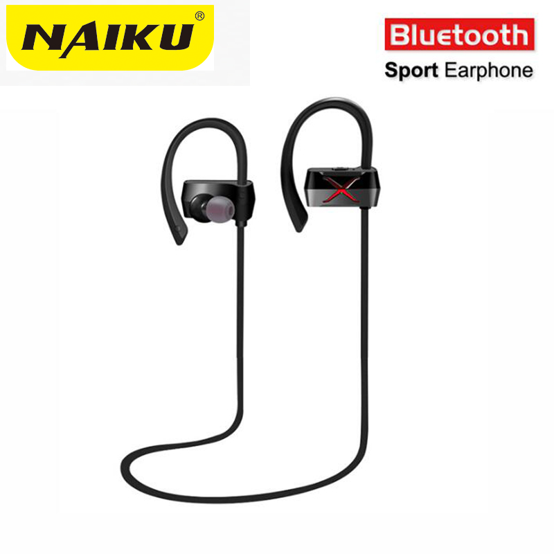 New NAIKU bluetooth headphone earphone stereo headset sports running wireless IPX4 hands-free earbuds for iPhone Samsung