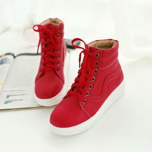 Image 3 - Zapatos My Hero Academia Izuku Midoriya para Cosplay, zapatos casuales de lona vulcanizados para mujer, zapatos altos con cordones, calzado de verano