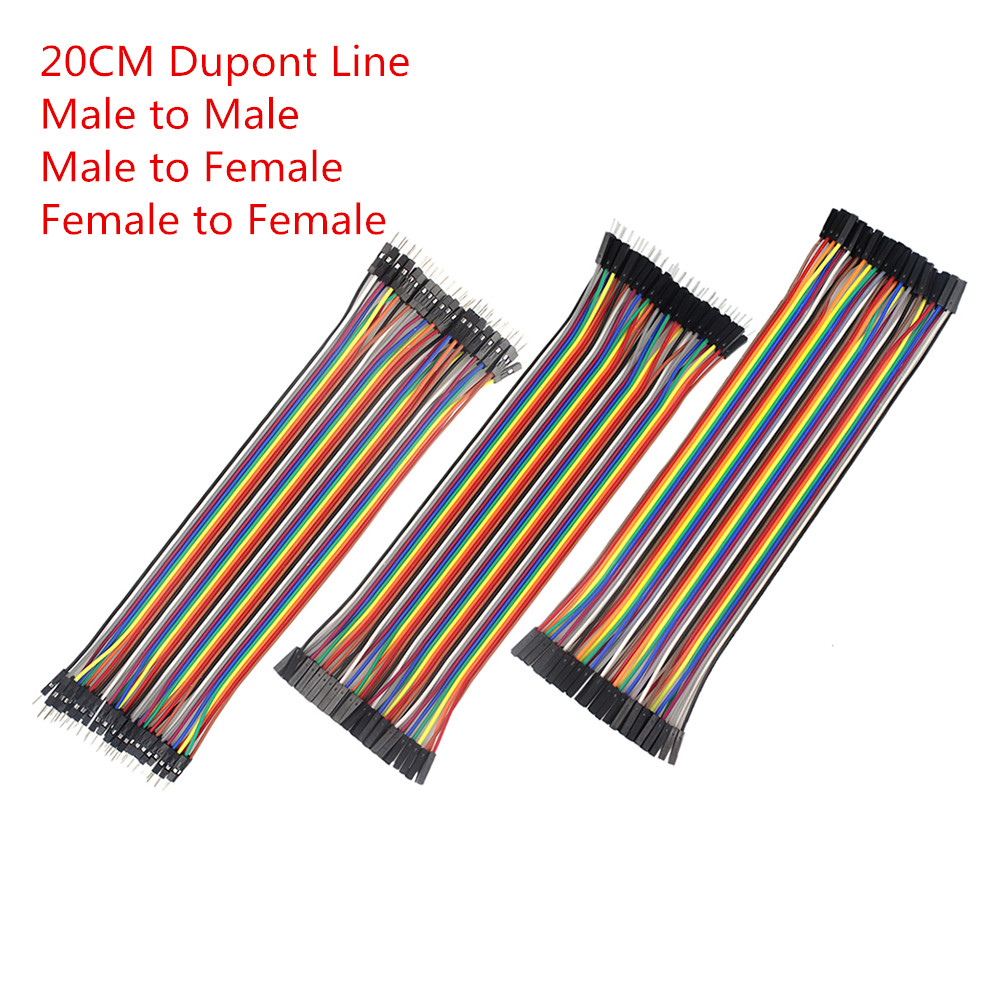Dupont Line 120pcs 20cm Male to Male + Male to Female + Female to Female Jumper Wire Dupont Cable for arduino Diy Kit 1pcs lot md6f line md6 female mouse and keyboard to 4p terminal line 50cm