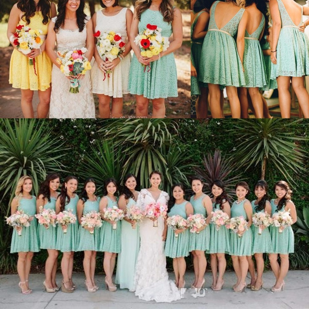 Aliexpress buy 2016 new arrival country style bridesmaid aliexpress buy 2016 new arrival country style bridesmaid dresses open back short lace bridesmaid dress a line teal bridesmaid dresses bg045 from ombrellifo Choice Image