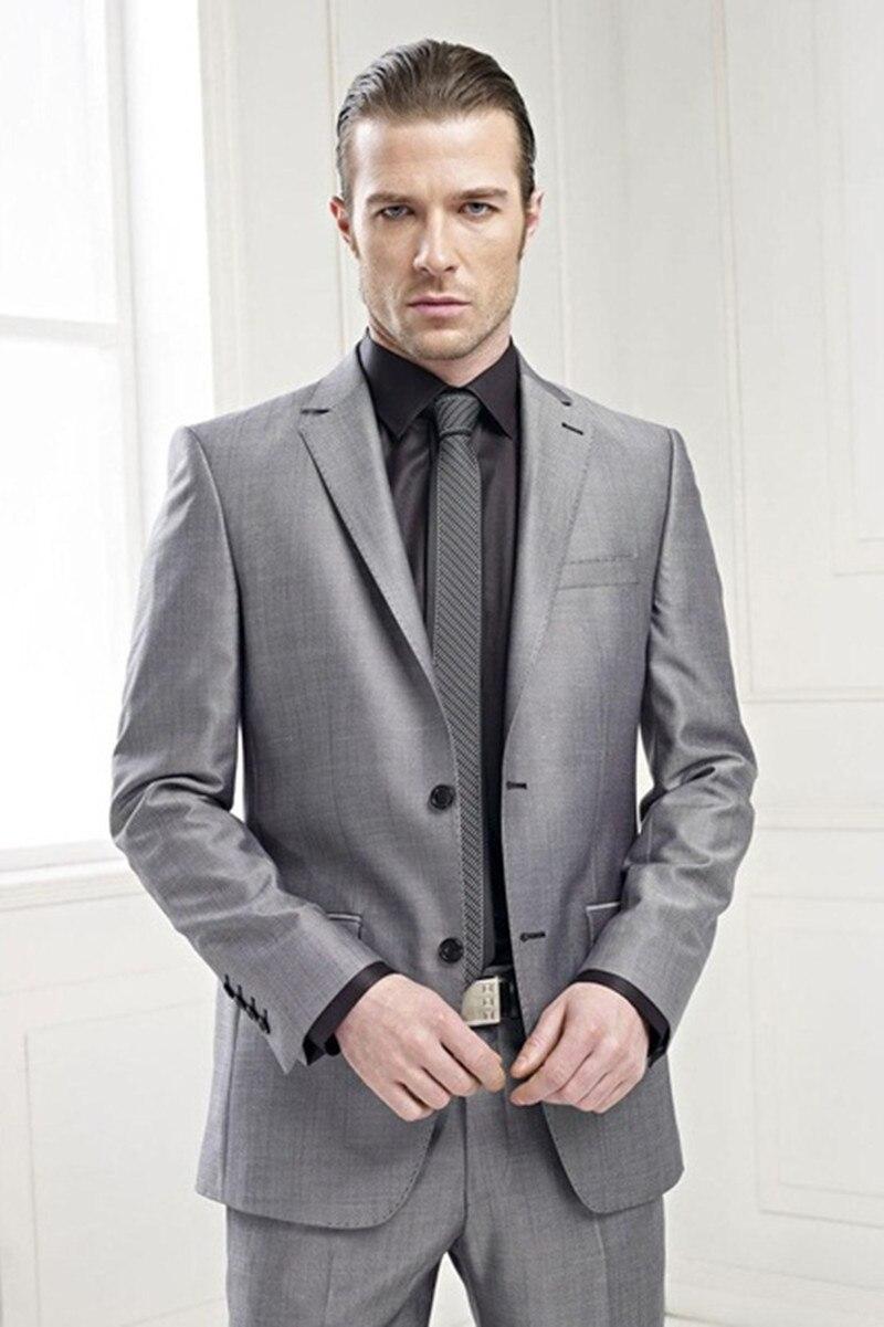 (Пиджак + брюки + галстук) 2019 Классический Серый Жених смокинги для женихов элегантный мужской костюм для свадьбы бизнес для мужчин рабочая о...