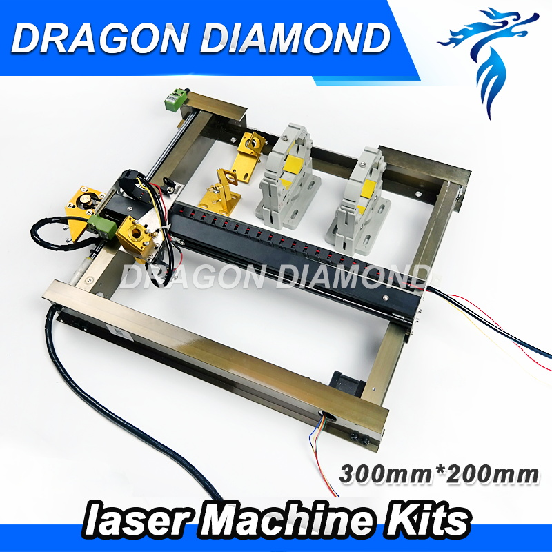 Co2 Laser Mechanical Parts Set 200mm*300mm Single Head Laser Kits Spare Parts For Co2 Laser Cutting Machine ce certificated jinan acctek cheap hot sale laser machine spare parts