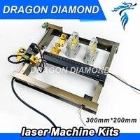 Co2 лазерного механических Запчасти 200 мм * 300 мм одной лазерной головки Наборы запасных Запчасти для Co2 лазерной резки машина