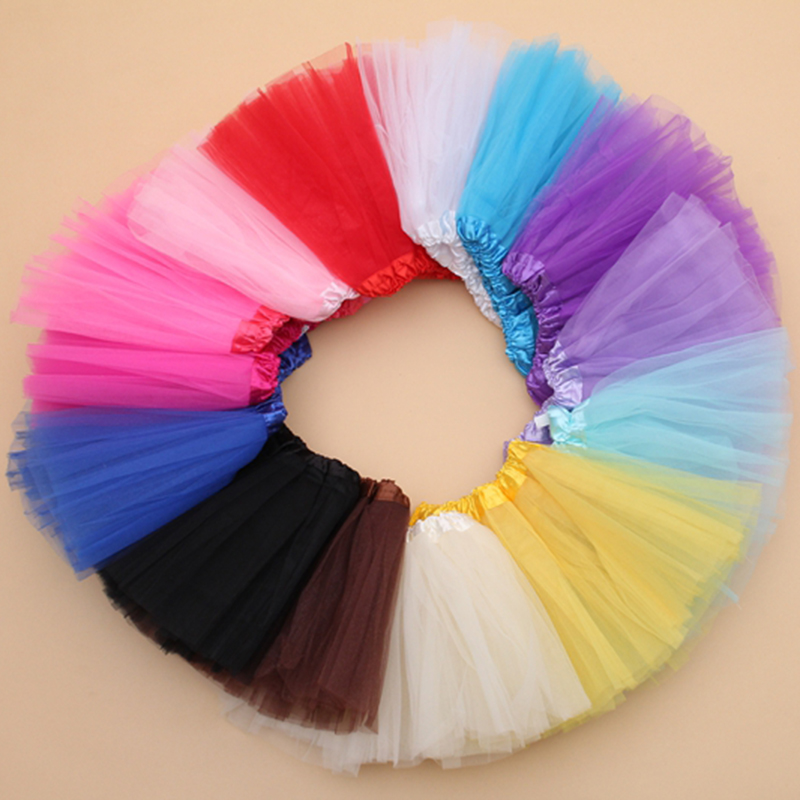 7 Colors Girls Skirts Princess Lovely Tutu Skirt 2-10Y Kids Summer Skirt Candy Color Short Girls Skirt