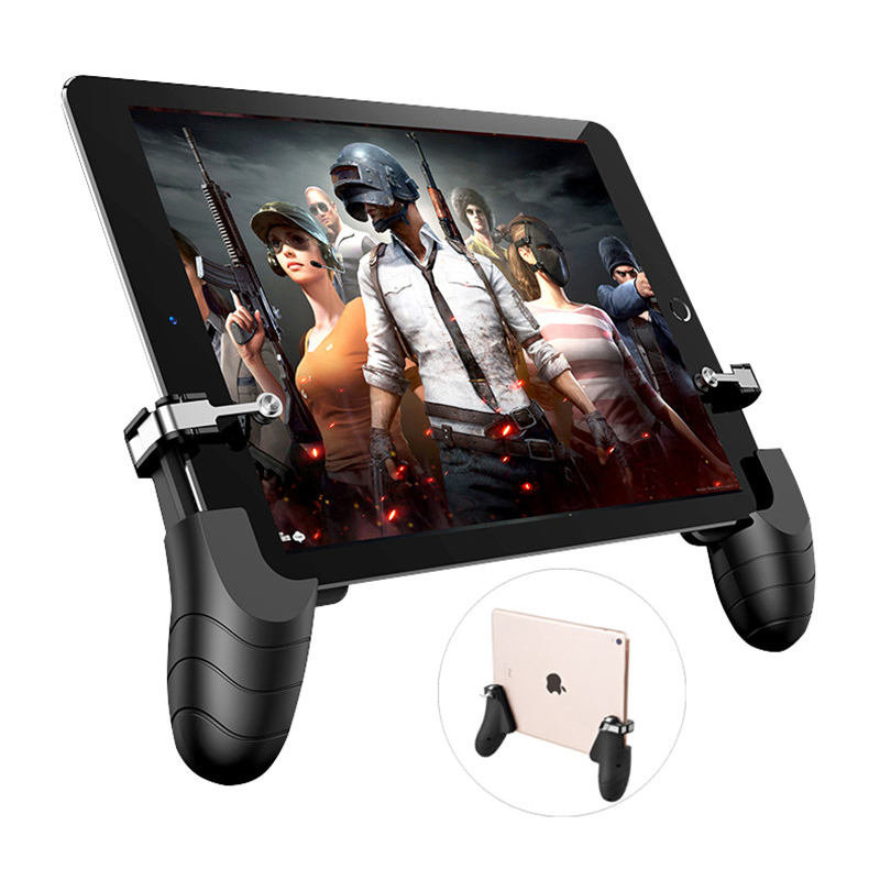 PUBG Mobie Controller Gamepad for Ipad Tablet Trigger Fire Button Aim Key Mobile Games Grip Handle L1R1 Shooter Joystick shirlin for pubg mobile gaming trigger games button aim key l1 r1 shooter controller joystick gamepad for fortnite