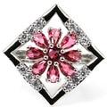 6 # Создан Розовый Родолит Гранат Малина SheCrown женщины Партия Серебряное Кольцо 25 х 25 мм