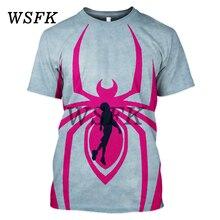 2019 personnalité chaude vente spiderman 3D impression hommes T-shirt style Harajuku rue casual sweatshirt футболки