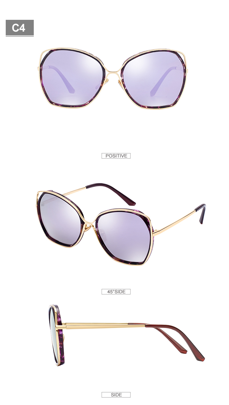 294e9674bc Gafas de sol polarizadas de moda EFE para mujeres clásicas Vingate marco de  Metal gafas de sol para mujer