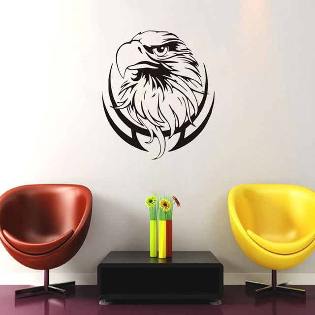 Removable Vinyl New Design Eagle Head Branch Wall Stickers Home - Custom removable vinyl decals