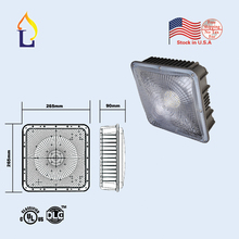 5pcs/lot UL/DLC listed LED Canopy Light Commerical Grade Weatherproof Outdoor High Bay Balcony Carport Driveway Ceiling