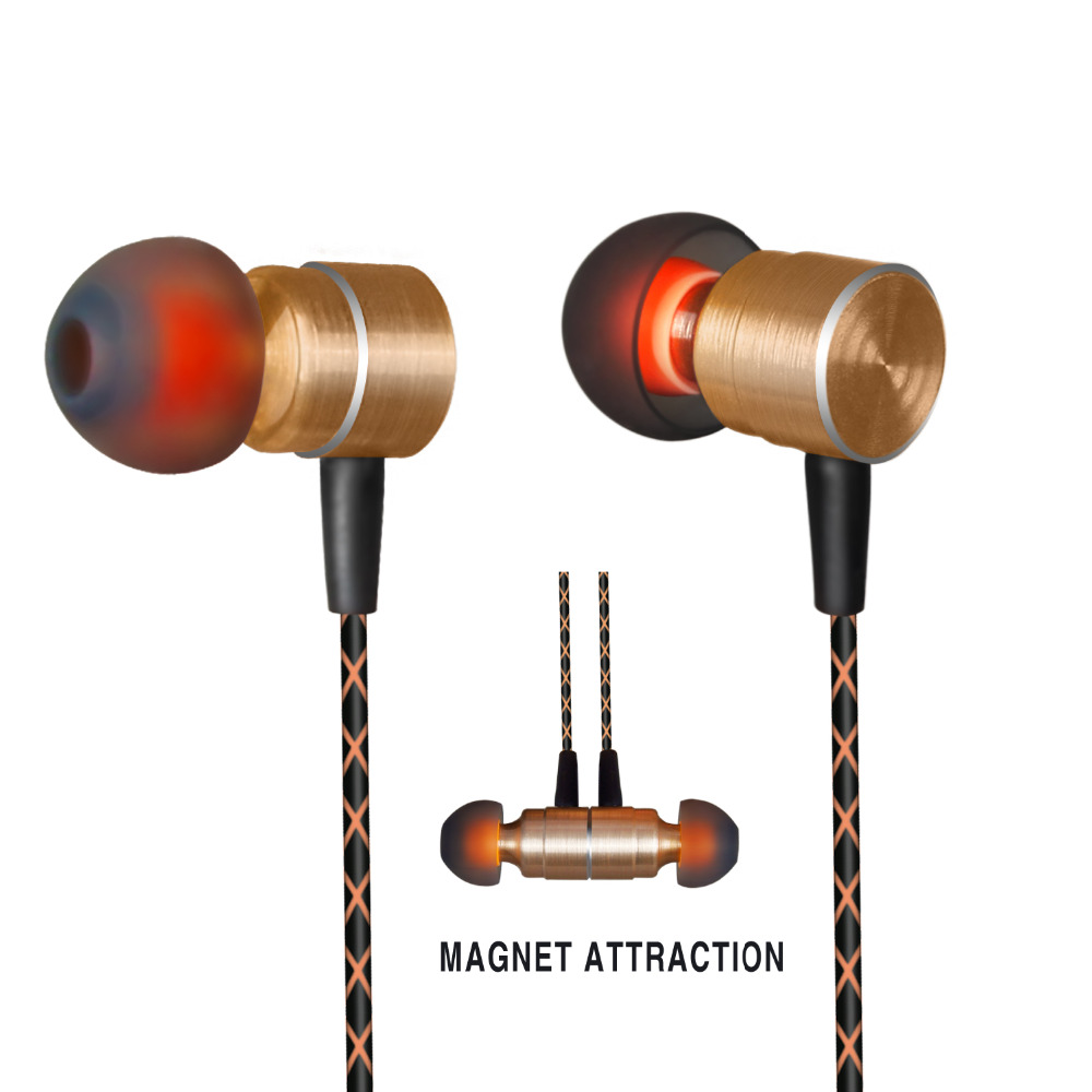 High Quality Magnetic Earphones HIFI Fever in-ear Earphone Hands-free Earbuds with Mic Heavy earbuds Virulent Vocals For Xiaomi