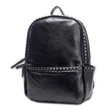 Новинка PU кожа рюкзак школьный для Для женщин teenegers Обувь для девочек рюкзак для ноутбука одноцветное Цвет молнии Мягкая ручка рюкзак 3 Цвет