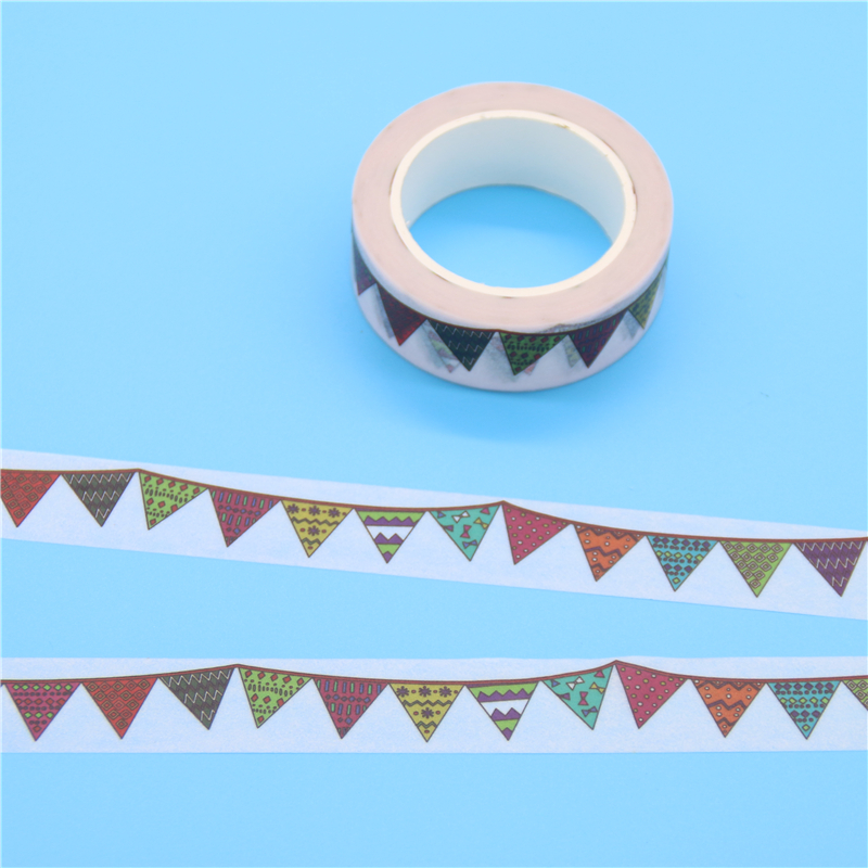 1 x colour flag washi tape diy decoration scrapbooking for Decoration masking tape