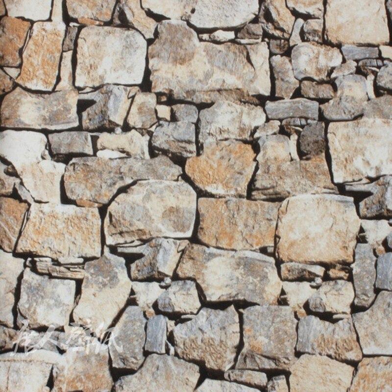 Papel pintado de ladrillo de imitaci n de piedra de - Imitacion a piedra para paredes ...