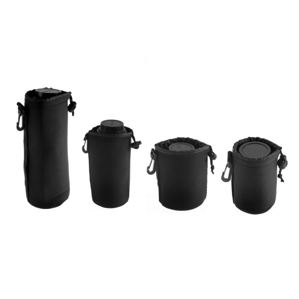 Portable Waterproof Shockproof Camera Lens Bag Drawstring Black 1 Pcs/Set, 4 Pcs/Set Storage Pouch