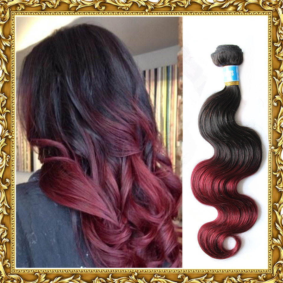 Peruvian virgin hair body wave ombre hair extensions new star hair peruvian virgin hair body wave ombre hair extensions new star hair 3 or 4pcs lot two tone blackwine red human hair weaves wavy on aliexpress alibaba urmus Image collections
