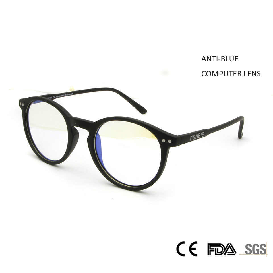 81c3d2d38ec0d Sorbern Anti Blue Rays Fatigue Eyeglasses Round Computer Glasses For Women  Men Spectacles Frames Oculos de