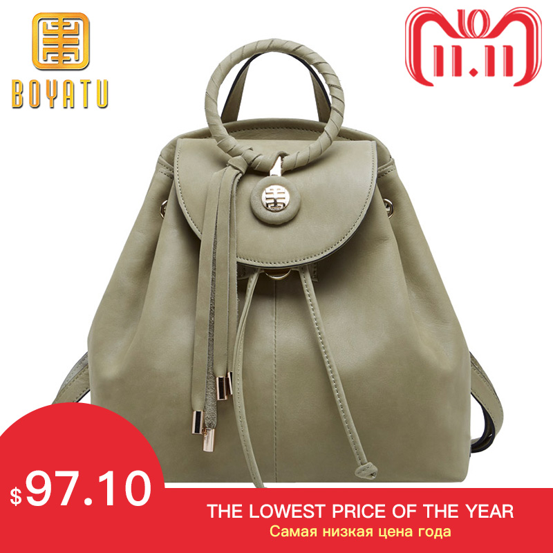 Luxury Genuine Leather Backpack Female Fashion Backpack Sac A Dos Vintage Shoulder Bags for Women 2018 High Quality 11.11 new fashion women bag messenger double shoulder bags designer backpack high quality nylon female backpack bolsas sac a dos