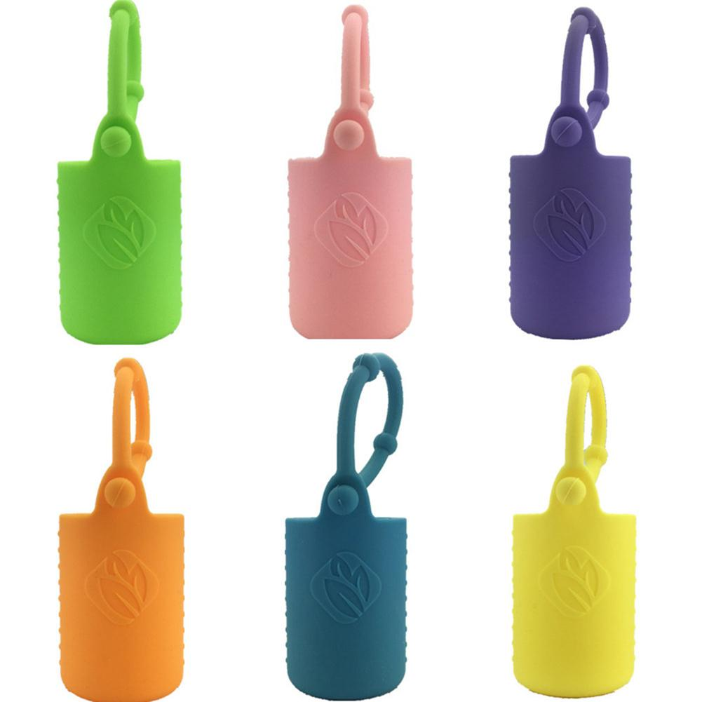CHUWUJU 50 Pcs Essential Oil Bottle Case Cover Silicone Protective Carrying Holder Storage Box Protector Color