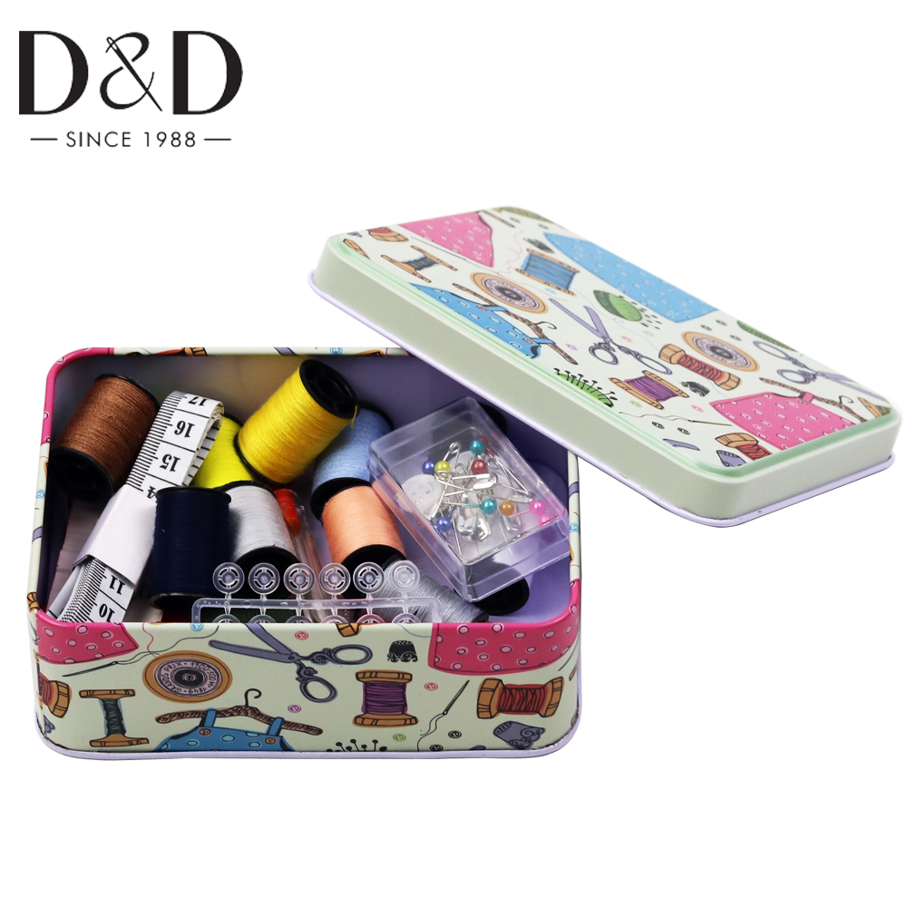 Portátil Mini viaje Conjunto de caja de costura para el hogar Kit de - Artes, artesanía y costura