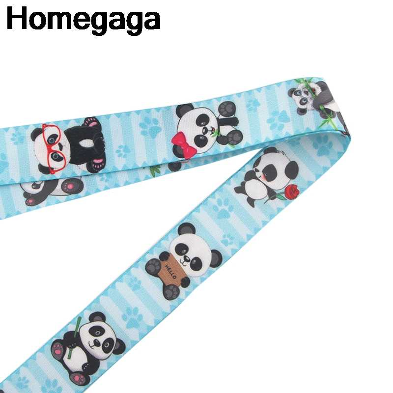 Homegaga Panda keychains Accessories Safety Breakaway For Mobile Phone USB ID Badge Holder Key Strap Tags Neck lanyard D2200
