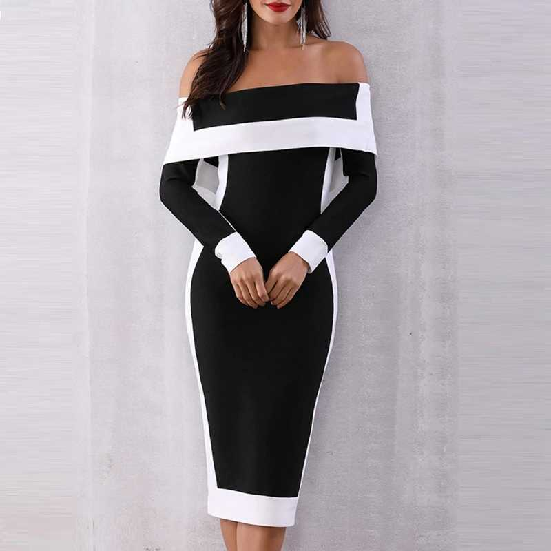 d310b589381 H Sexy Elegant Party Dress Women 2019 Large Size Midi Bodycon Dress Big Size
