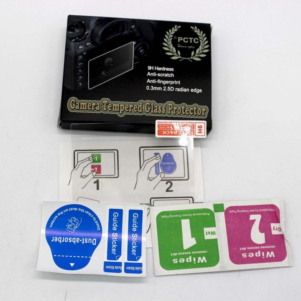 Pctc 2PCS 0.3mm Radian Anti- Fingerprint Scratch-resistant Tempered Glass Film Screen Protector For 5d Mark Iv 5d4 Camera prot