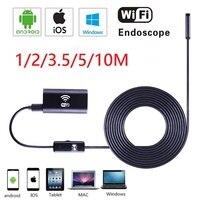 Wifi Endoscope Camera Android IOS 720P Borescope Inspection Camera Endoscopio 6LED 8MM Semi Rigid Hard And