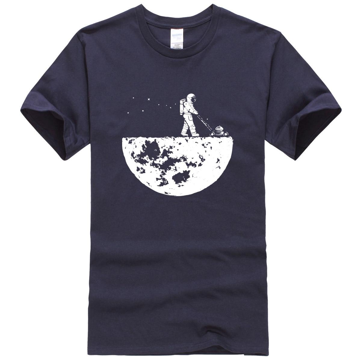 Hot sale 2019 summer men   t  -  shirt   novelty design Develop The Moon cotton brand men's   t     shirt   harajuku fitness tops tshirt kpop