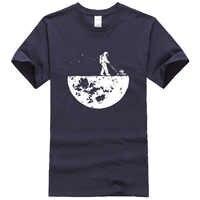 Hot sale 2019 summer men t-shirt novelty design Develop The Moon cotton brand men's t shirt harajuku fitness tops tshirt kpop
