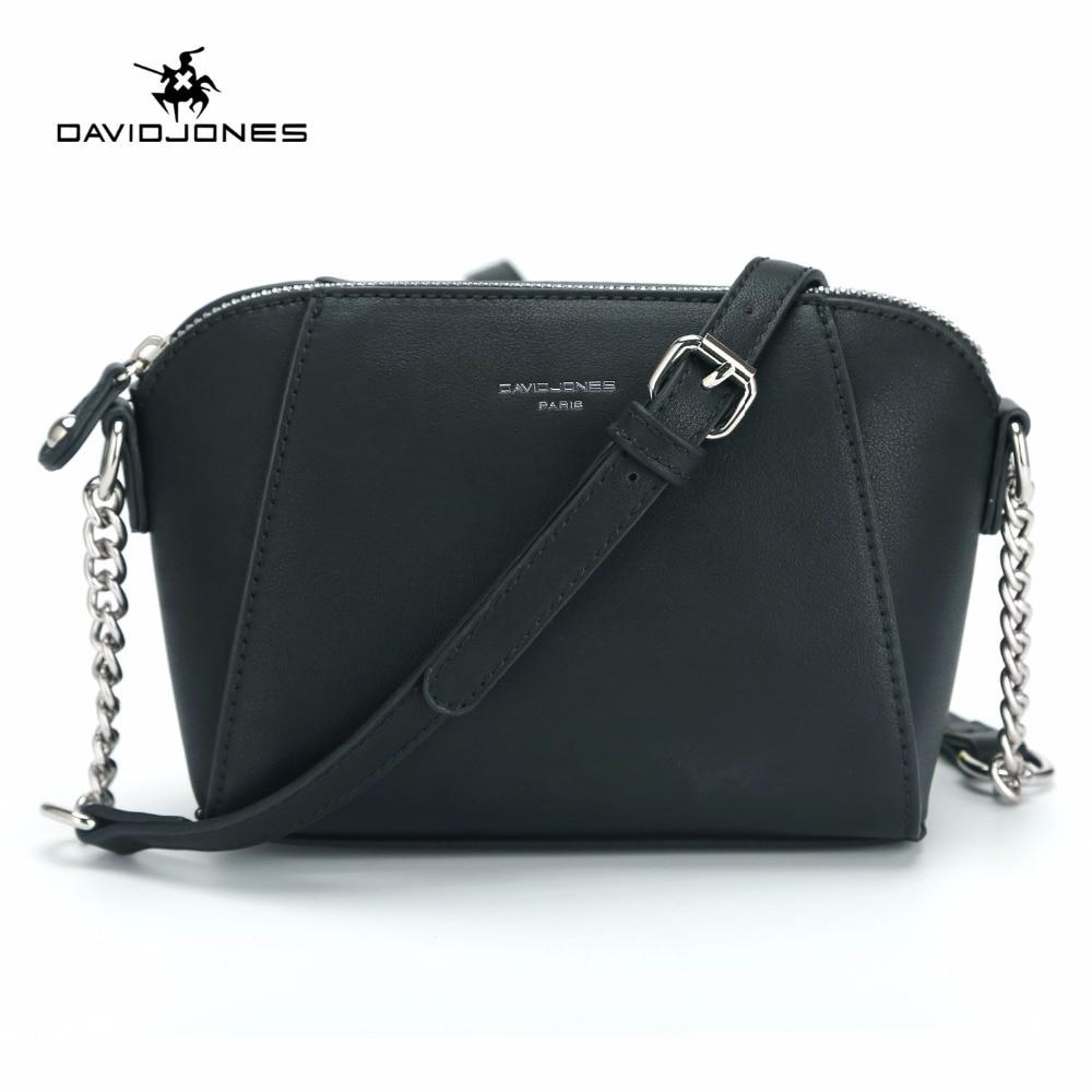 DAVIDJONES New Fashion Women Messenger Bag Female Crossbody Bags For Women Small Purse Feminina Sac PU Leather Shoulder Bag 2018