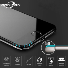 5D Anti fingerprint Protective Glass for iPhone 7 Screen Protector iPhone 8 Tempered Glass on iPhone XS MAX 6 6s 7 8 Plus Glass
