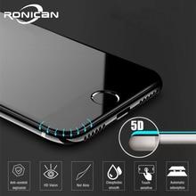 5D защитное стекло против отпечатков пальцев для iPhone 7, защита экрана iPhone 8, закаленное стекло для iPhone XS MAX 6 6s 7 8 Plus, стекло