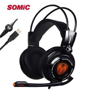 Image 1 - Original Somic G941 7.1 Virtual Surround Sound USB Gaming Headset Vibrating Glow Led Headband Headphone with Mic Voice Control