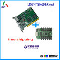 Linsn sending card TS802 and Linsn receiving card RV908M full color video led display screen controller