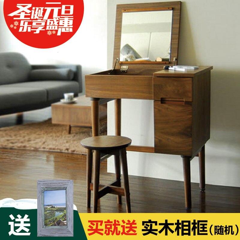 Wooden Dresser Dresser Stool Bedroom Furniture Small Family Clamshell Receive Ark Restoring Ancient Ways