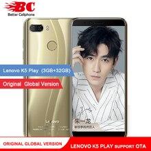 Orijinal Küresel Lenovo K5 Oyun Telefonu Android 8.0 Snapdragon 430 MSM8937 Octa Çekirdekli 5.7 inç Parmak İzi Rear13.0MP 3 GB +...