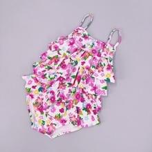 цена на 9-36M Infant Swimwear Baby Girls Bathing Suit Toddlers 2 pieces set Bikini Kids Swimsuit Babies Swimming Suit Babe Clothing