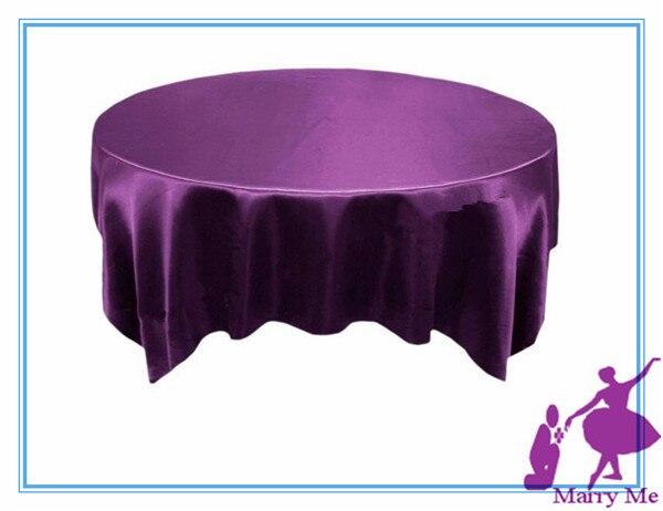 1pcs 60u0027u0027x60u0027u0027 Purple Satin Table Overlay For Wedding Party