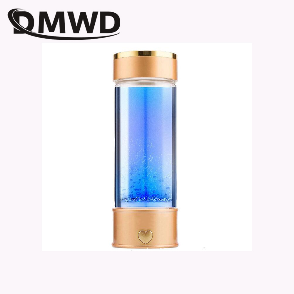 DMWD Hydrogen Rich Water Generator Japanese Alkaline Energy Glass bottle Anion Water Ionizer Anti Aging USB H2 Healthy smart cup image