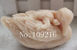 Wholesale 1pcs 3d mother and child swan zx00335 silicone handmade soap mold crafts diy mold.jpg 250x250