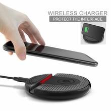 Aanti de silicio y plástico antideslizante soporte para teléfono celular y cargador inalámbrico qi para iphone 8,8 plus, X/Samsung Galaxy S8/S8 Borde