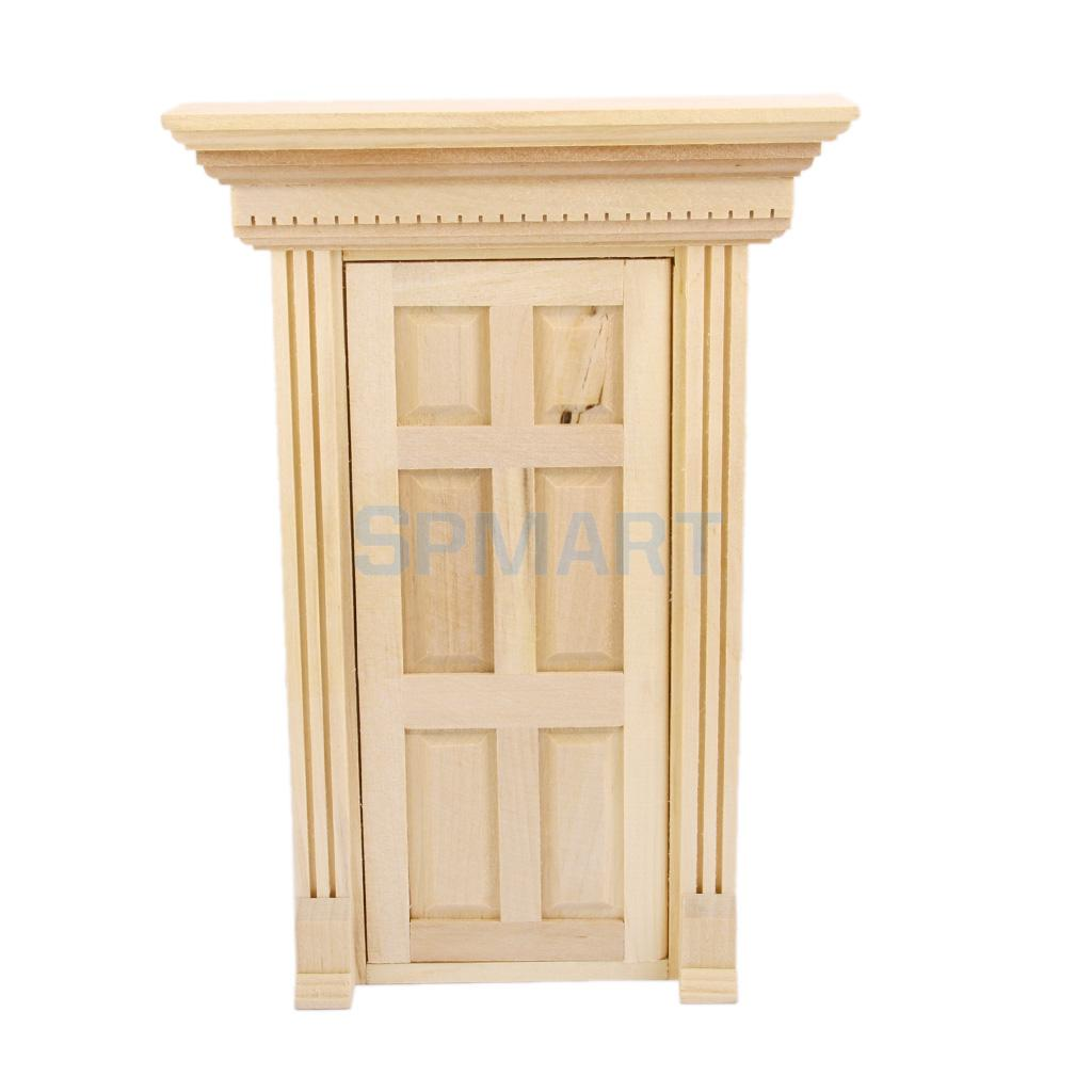 Very Impressive portraiture of  Exterior Wooden Door Matching Frame for 1:12 Mini Doll House DIY Craft with #502A09 color and 1024x1024 pixels
