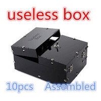 10pcs Useless Box Kit Leave Me Alone Box Great Geek Gift(Fully Assembled,DIY Version) Fun Joke Novelty Gag Electric Toy
