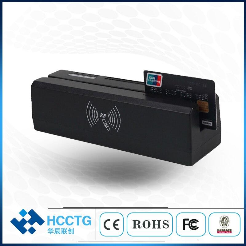 Graveur magnétique multifonction à bande magnétique à 3 voies USB/lecteur de carte à puce intelligente/lecteur NFC HCC80